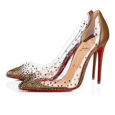 """Christian Louboutin United States Official Online Boutique - Degrastrass PVC """"Safki"""" 100 Safki Nude 5 Strass available online. Discover more Women Shoes by Christian Louboutin Pretty Shoes, Beautiful Shoes, Cute Shoes, Pumps Heels, Stiletto Heels, High Heels, Stilettos, Louboutin Online, Jeweled Shoes"""