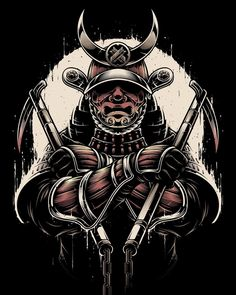 regram A Samurai Gi's artwork for a client. Oni Samurai, Samurai Warrior Tattoo, Japanese Tattoo Art, Japanese Tattoo Designs, Japanese Warrior Tattoo, Samurai Artwork, Ninja Art, Illustrator, Japan Tattoo