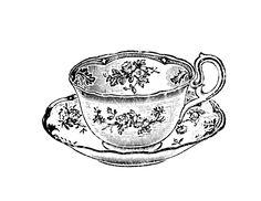 Images For > Vintage Teacup Drawing