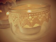 Pots, Ideas Para, Candle Holders, Recycling, Candles, Crochet, Creative, Latte, Knitting