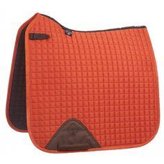 LeMieux ProSport Suede Dressage Square - Burnt Orange - Saddlecloths & Pads - Saddlery - Tack | Equestrian Performance