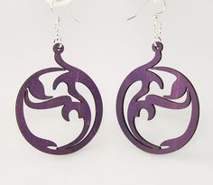 Circle Art - Laser Cut Wood Earrings
