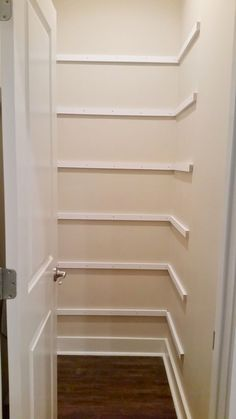 shelf supports for pantry makeover DIY