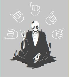 """undertale, gaster GIF """"I AM WATCHING"""""""