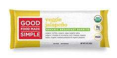Organic Veggie Jalapeno Breakfast Burritos - Good Food Made Simple