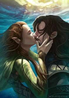 Kili And Tauriel by Montjart.deviantart.com on @DeviantArt