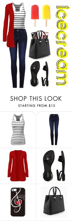 """""""Out for Ice-cream!"""" by cg-ashley ❤ liked on Polyvore featuring J.TOMSON, 2LUV, WearAll, Old Navy, Chapstick, MANGO and Été Swim"""