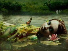 use your illusion. Fantasy World, Fantasy Art, Fantasy Paintings, Dark Fantasy, Oil Paintings, Water Fairy, Celtic Goddess, Celtic Mythology, Goddess Art