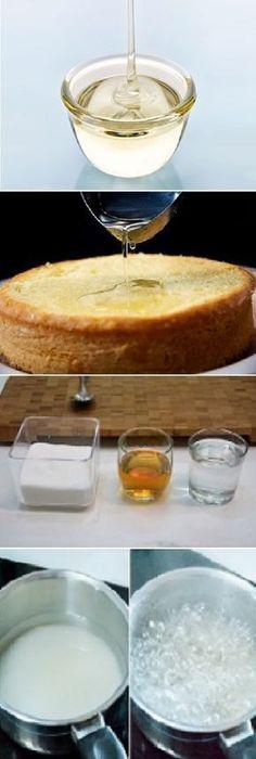 Cómo Hacer DIFERENTES tipos de Almíbar y SUS usos. Fondant Flower Cake, Fondant Cakes, Cupcake Cakes, Strawberry Cakes, Strawberry Cheesecake, Cheesecake Desserts, Dessert Recipes, Salsa Dulce, Ganache