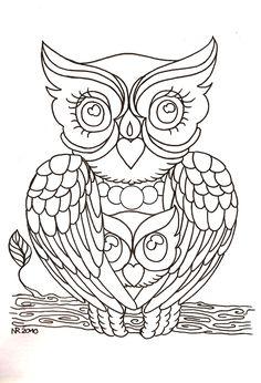 Mama_Owl_by_MahakaliCreation.jpg (1100×1615)