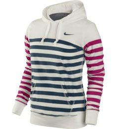 Nike Women's Stripe Jersey Hoodie