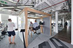 A Tour of Austin Fraser's New Reading Office - Officelovin' Garage Furniture, Garage Interior, Office Space Design, Workplace Design, Office Designs, Ultimate Garage, Luxury Garage, Garage House, Car Garage