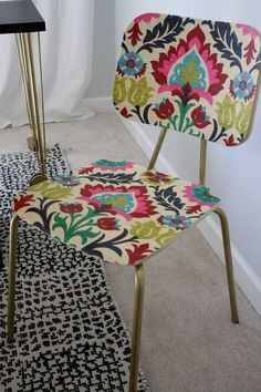 How to Add Color and Pattern To a Plain Wooden Chair — Apartment Therapy Reader Tutorials