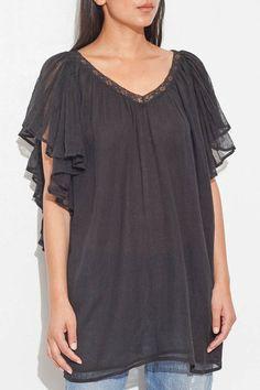 Black Hortense Top by Mes Demoiselles