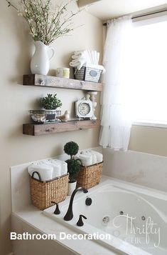 Trendy Bathroom Shelves Over Toilet Rustic Storage Ideas Diy Bathroom Storage, Shelves, Trendy Bathroom, Bathroom Makeover, Floating Shelves, Home Decor, Home Diy, Bathroom Design, Bathroom Decor