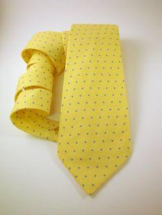 Men's Necktie - Blue Dot Buttercup. $28.00, via Etsy.