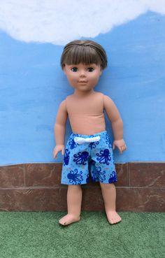 18 Inch Boy Doll Clothes Boy Doll Swim Trunks Boy by DonnaDesigned