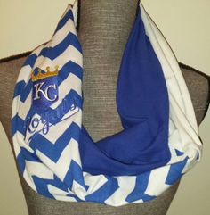 KC ROYALS Infinity Scarf Chevron Print 3 Color by ItsPeachyKeen