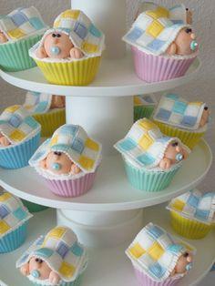 41 Gender Neutral Baby Shower Décor Ideas That Excite Torta Baby Shower, Shower Cakes, Baby Boy Shower, Baby Cupcake Toppers, Cupcake Cakes, Horse Cupcake, Fondant Cakes, Decoracion Baby Shower Niña, Fondant Baby