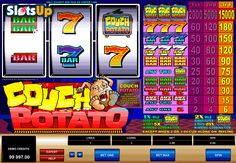 Start your rewarding lazy gambling in the Couch Potato free slot! Couch Potato is the classic 3-reel, 1-payline slot by Microgaming with the cartoon-like potato below the reels and nice prizes. The only one special symbol here is the TV Set Wild icon with applied 5x and 25x multipliers. Relax and spin the reels with cherries, 7s, etc. at www.SlotsUp.com