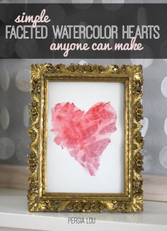 DIY Tutorial DIY Watercolor  / DIY Simple Faceted Watercolor Hearts Anyone Can Make - Bead&Cord