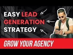 In this video, I'm teaching you how to generate leads for your marketing agency. This is such a SIMPLE strategy you can implement today to find hundreds of l. Digital Marketing Business, Social Media Marketing Agency, Sales Strategy, Youtube I, Free Training, Lead Generation, Investing, Told You So, Extra Mile