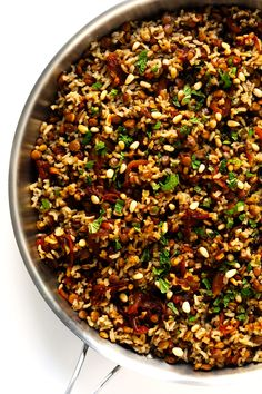 Brown Rice Mujadara   Gimme Some Oven