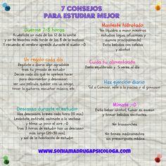 7 Consejos para estudiar mejor  www.soniamadrugapsicologa.com