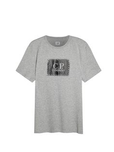 50f18d9f5db6 Printed Label SS T-Shirt in Grey