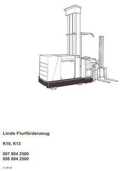 Linde Fork Lift Truck 335-02: E14, E16, E16C, E18C, E16P