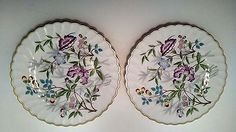 """Syracuse """"Jewel Tree"""" Bread and Butter Plate Lot of 2 Multi-Colored"""
