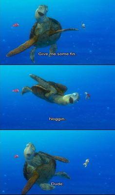Give me some fin  noggin  dude!