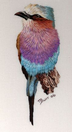 Beautiful bird embroidery.