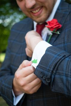One awesome groom wore space invader cufflinks :D Space Invaders, Groom Wear, Photography Portfolio, Cufflinks, Patches, Wedding Photography, Awesome, Wedding Photos, Wedding Cufflinks