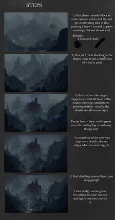 Fantasy Landscape V STEPS by Concept-Cube