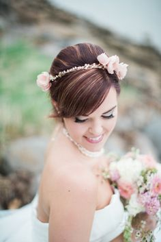 Washington DC | Cherry Blossoms | Wedding | Hayley Paige Wedding Gown | All About Romance Custom Cherry Blossom Hair Piece | Photo Credit: Brooke Ellen Photography | Styled Shoot by Julie Paisley Photography