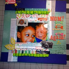 Sibling rilvary???  LO done with January Noel Mignon and Scraptastic kits.  Inspired by an original LO by Victoria Marie.