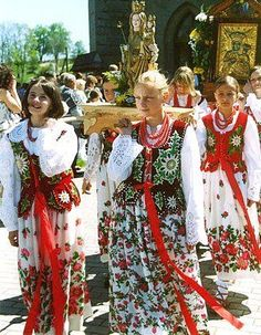 """Maidens of Podhale - Poland Carrying the Goddess. Podhale (literally means """"under the Mountain Meadows"""") is Poland's southernmost region, sometimes referred to as the """"Polish highlands"""". The Podhale is located in the foothills of the Tatra range of Carpathian mountains, and is characterized by a rich tradition of folklore."""