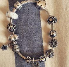 Cool pandora bracelet Pandora Bracelets, Pandora Charms, Pandoras Box, Heart Charm, Jewelry, Fashion, Rings, Bangle Bracelets, Moda