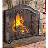 Found it at Wayfair - Small Crest Flat Guard Fireplace Screen