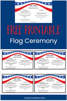 Perfect for Cub Scouts, Boy Scouts, Girl Scouts and other youth groups that promote patriotism, this fun and simple United States flag ceremony idea comes with a printable script to help the kids remember what to say. This flag ceremony can be used at Scout den, pack and troop meetings. Get your free flag ceremony cheat sheet today!  #CubScouts #CubScout #Scouting #Webelos #ArrowOfLight #FlagCeremony #CubScoutFlagCeremony