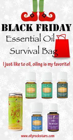 BLACK FRIDAY Essential Oil Survival Bag - Oily Rockstars