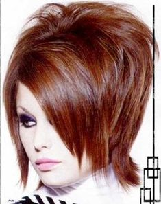 Stacked Bob Red Hairstyle 2015