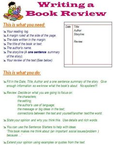 How To Write A Book Review Also Many Other Pages On Writing Reading