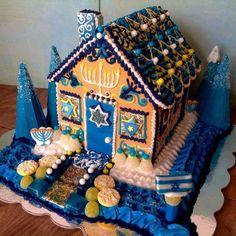 Happy Hanukah - holy gingerbread house - BEAUTIFUL!