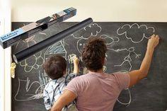 Self-Adhesive Blackboard & 5 Chalks