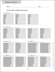 math worksheet : use models to add decimals  google search  math grids  : Decimal Model Worksheet