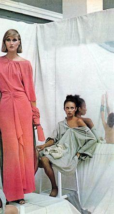 Chloe by Karl Lagerfeld, photo by Deborah Turbeville Vogue 1975