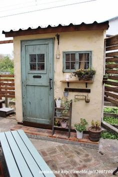 Building a shed is a popular solution for creating storage space outside the house. Whether you are thinking about having a go and building a shed yourself Backyard Studio, Backyard Sheds, Garden Sheds, Shed Design, House Design, Potting Sheds, She Sheds, Garden Buildings, Building A Shed