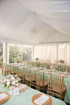 Elegant Mint and Gold Reception - Wedding Colours, Wedding Themes, Wedding colour palettes